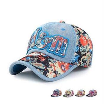 【米蘭精品】牛仔帽碎花棒球帽戶外休閒防曬時尚73da34
