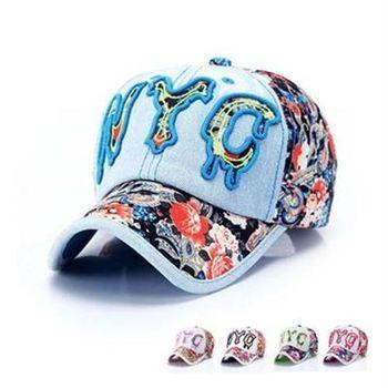 【米蘭精品】牛仔帽花布棒球帽夏季防曬字母刺繡73da14