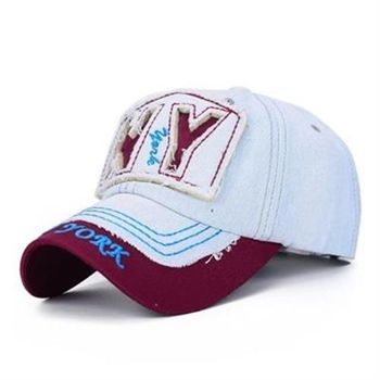 【米蘭精品】牛仔帽字母棒球帽個性抽鬚時尚拼色73da7