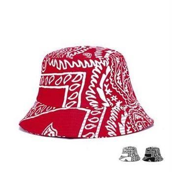 【米蘭精品】遮陽帽塗鴉漁夫帽美式風格時尚防曬73db9