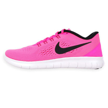 【NIKE】WMNS FREE RN 女慢跑鞋 - 路跑 輕跑鞋 粉紅白
