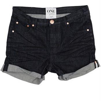 OneTeaspoon RAW CHARGERS 牛仔短褲 OTS - 懷舊黑 - 女裝