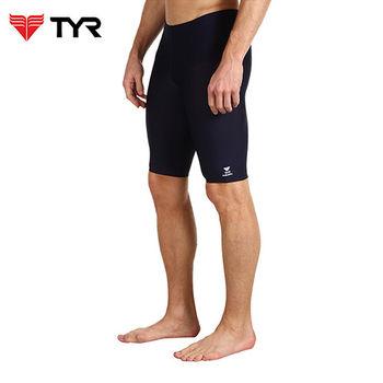 美國TYR男用馬褲黑色訓練款泳褲Solid Jammer