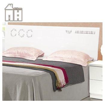 【AT HOME】萊恩莉3.5尺白色亮烤單人床頭片(不含床底)