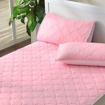 義大利La Belle《繽紛漾彩-甜粉》超涼感信封式保潔枕套--2入