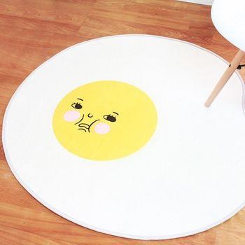 蛋黃哥 療癒系慵懶雞蛋哥地墊 絨毛腳踏墊 浴室地墊 防滑墊 踏墊 門墊