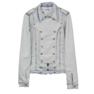 OneTeaspoon CAPTAIN CAVALRY JACKET 牛仔夾克 OTS - 懷舊藍/刷白 - 女裝