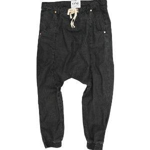 OneTeaspoon BLACK LUXE HAREM 牛仔飛鼠褲 OTS - 黑 - 女裝