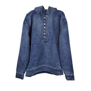 OneTeaspoon CAPTAIN HOODIE 牛仔上衣 OTS - 懷舊藍 - 女裝
