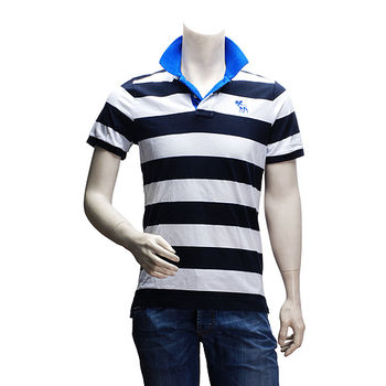 Abercrombie  Fitch 麋鹿POLO衫(男-深藍X白-S)