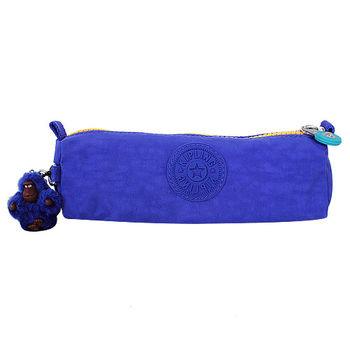 KIPLING GLASBTMBLC  拉鍊萬用包/毛絨猩猩吊飾(寶藍)