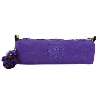 KIPLING TILEPURPLE  拉鍊萬用筆袋/毛絨猩猩吊飾(紫)