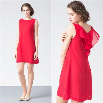 IFOREST 輕著柔感美背造型洋裝(紅色)15526