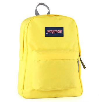 JanSport校園背包(SUPER BREAK)-高調黃