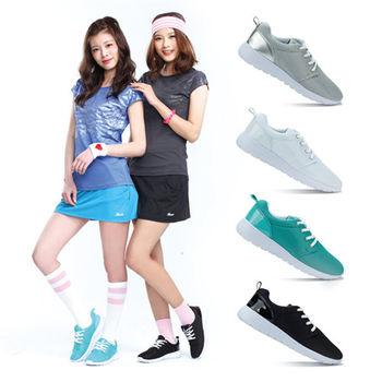 【TOP GIRL】後亮皮透氣網布慢跑鞋-共四色
