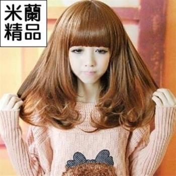 【米蘭精品】假髮整頂假髮中長假髮髮尾大波浪捲度甜美可愛