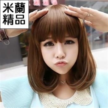 【米蘭精品】假髮整頂假髮中長假髮可愛時尚內彎流行