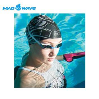 俄羅斯MADWAVE成人矽膠泳帽 STRIPESII送Barracuda矽膠耳塞