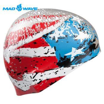 俄羅斯MADWAVE成人矽膠泳帽 USA送Barracuda矽膠耳塞