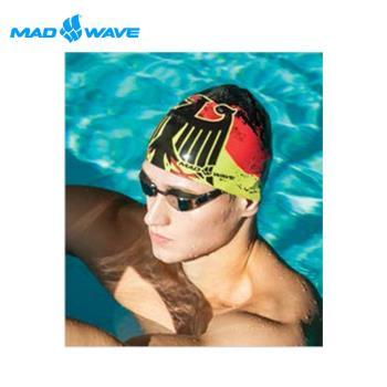 俄羅斯MADWAVE成人矽膠泳帽 GERMANY送Barracuda矽膠耳塞