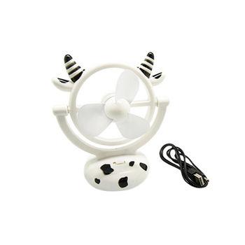 小牛造型可愛USB迷你風扇