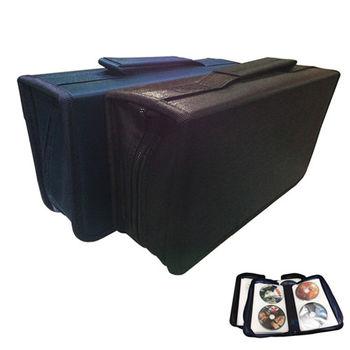 PUSH! 居家生活用品加厚內頁光碟收納包CD DVD光碟包收納盒(128片)I55黑色