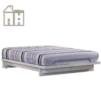 【AT HOME】倫斯6尺白色雙人床架(不含床頭片)