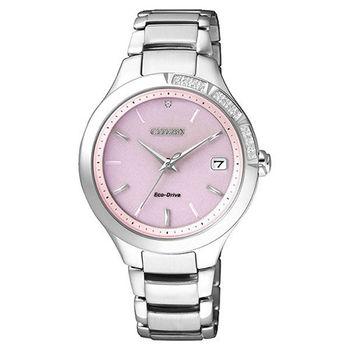 CITIZEN 星辰 Eco-Drive 光動能水鑽時尚腕錶 35mm/廣告款/EO1150-59W