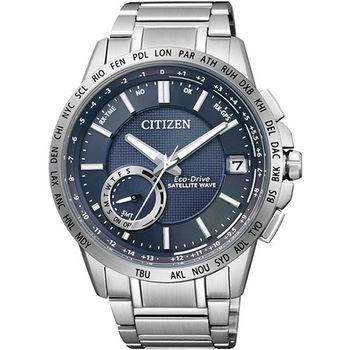 CITIZEN F-150 光動能GPS衛星對時腕錶-藍/44.5mm/CC3001-51L