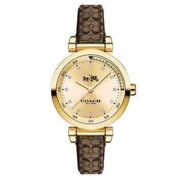 COACH 經典馬車LOGO時尚女用腕錶-30mm/14502539
