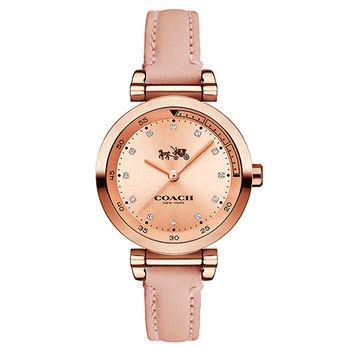 COACH 奢華水鑽馬車時尚腕錶-30mm/14502540