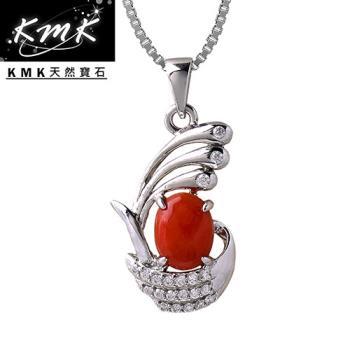 KMK天然寶石【守護者的海洋】純天然深海紅/粉珊瑚-項鍊