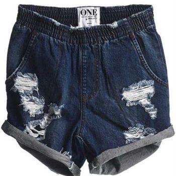 OneTeaspoon BAD SEED HUNTERS 牛仔短褲-HUNTERS OTS - 女(深海牛仔藍)