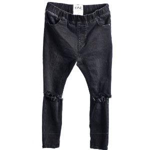 OneTeaspoon WESTWOOD KILLERS 牛仔褲 OTS - 懷舊黑/刷破- 女裝