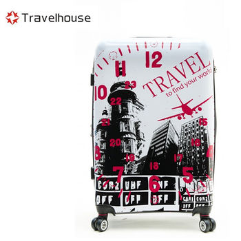 【Travelhouse】城市風旅 28吋PC超輕量可加大鏡面旅行箱(白色)