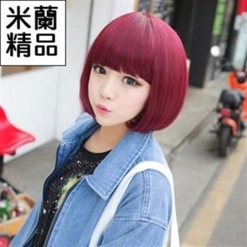 【米蘭精品】假髮整頂假髮短假髮時尚俏皮可愛齊瀏海