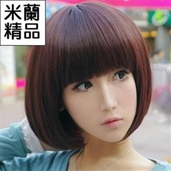 【米蘭精品】假髮整頂假髮短假髮可愛齊瀏海修臉流行