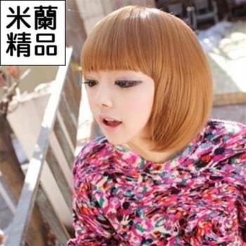 【米蘭精品】假髮整頂假髮短假髮日韓時尚齊瀏海修臉