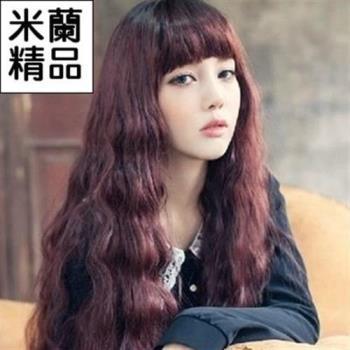 【米蘭精品】假髮整頂假髮長假髮韓國流行齊瀏海捲髮