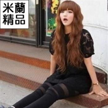 【米蘭精品】假髮整頂假髮長假髮齊瀏海蓬鬆逼真捲髮