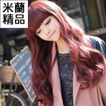 【米蘭精品】假髮整頂假髮長假髮齊瀏海長捲髮甜美可愛