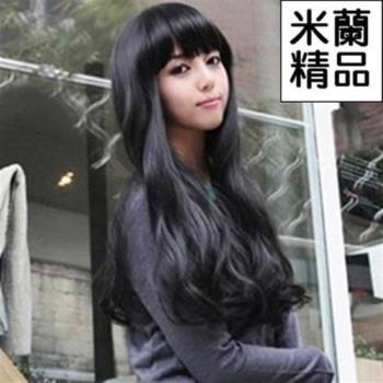 【米蘭精品】假髮整頂假髮長假髮齊瀏海長捲髮時尚逼真