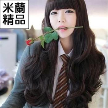 【米蘭精品】假髮整頂假髮長假髮齊瀏海日韓時尚長捲髮