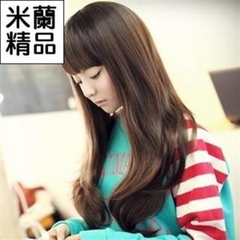 【米蘭精品】假髮整頂假髮長假髮甜美齊瀏海大波浪長捲髮
