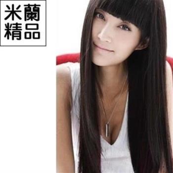 【米蘭精品】假髮整頂假髮長假髮氣質可愛齊瀏海長直髮