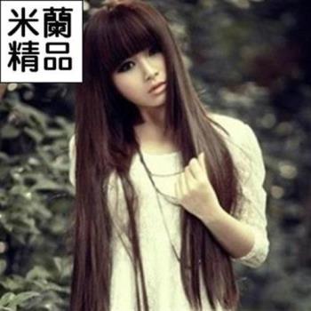 【米蘭精品】假髮整頂假髮長假髮氣質長直髮齊瀏海逼真
