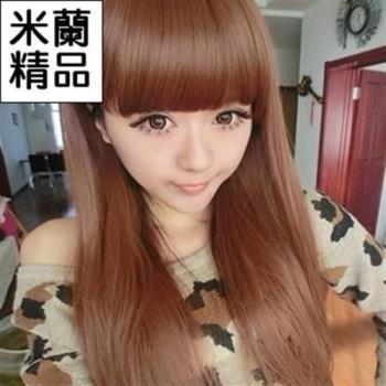 【米蘭精品】假髮整頂假髮長假髮時尚逼真齊瀏海長直髮