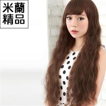 【米蘭精品】假髮整頂假髮長假髮時尚斜瀏海蓬鬆長捲髮