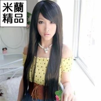 【米蘭精品】假髮整頂假髮長假髮直長髮時尚氣質斜瀏海