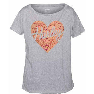 Hurley X Nike Dri-FIT 科技LOVE ME SHATTERED DRI-FIT TEE T恤 -  女 ( 麻花 / 淺灰 )